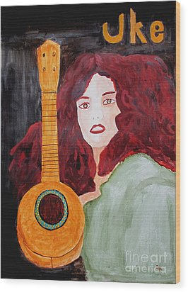 Uke Wood Print by Sandy McIntire