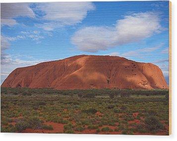 Uluru Wood Print by Pamela Kelly Phillips