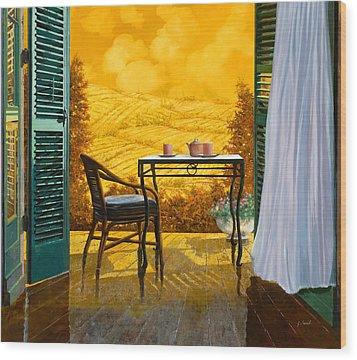 Un Caldo Pomeriggio D Wood Print by Guido Borelli