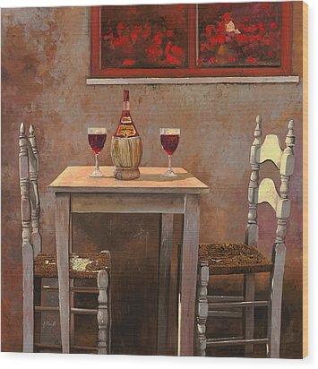 un fiasco di Chianti Wood Print by Guido Borelli
