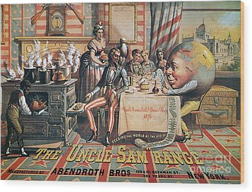 Uncle Sam Range Ad, 1876 Wood Print by Granger