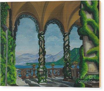 Under The Arches At Villa Balvianella Wood Print by Charlotte Blanchard