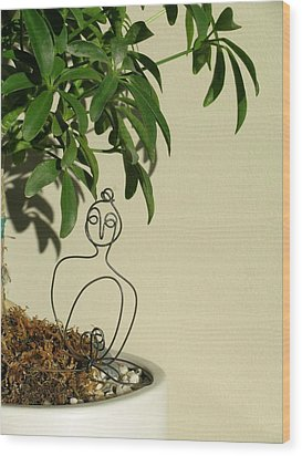 Under The Bodhi Tree Wood Print by Live Wire Spirit