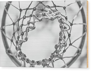 Under The Net Wood Print by Karol Livote