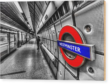 Underground London Wood Print by David Pyatt
