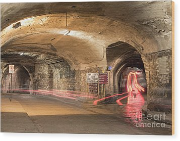 Underground Tunnels In Guanajuato, Mexico Wood Print by Juli Scalzi