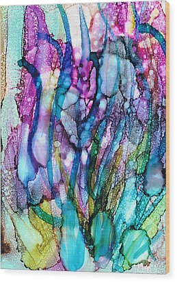Underwater Wood Print by Christine Crawford