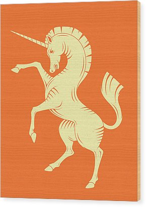 Unicorn Wood Print by Jazzberry Blue