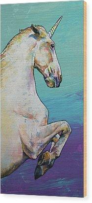 Unicorn Wood Print by Michael Creese