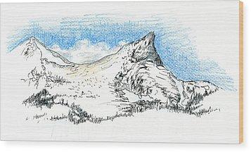 Unicorn Peak In September Wood Print by Logan Parsons