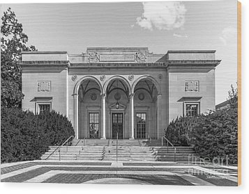 University Of Michigan Clements Library Wood Print by University Icons