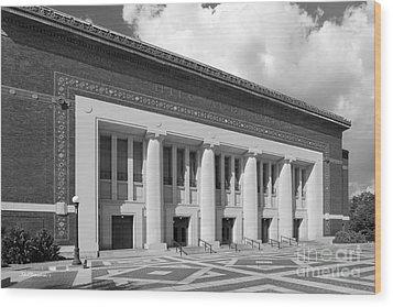 University Of Michigan Hill Auditorium Wood Print by University Icons