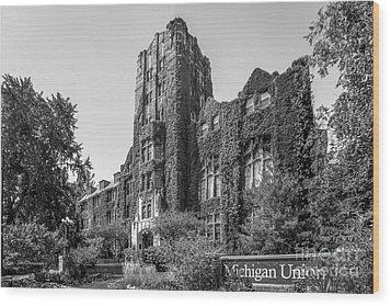 University Of Michigan Michigan Union Wood Print by University Icons