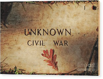 Unknown Civil War Wood Print by Kathleen K Parker
