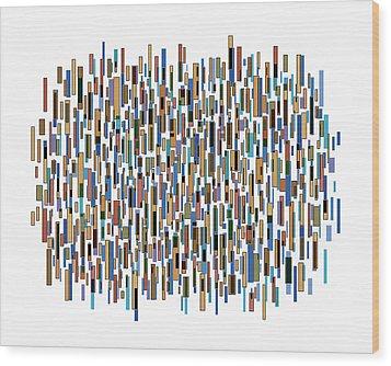 Urban Abstract Wood Print by Frank Tschakert