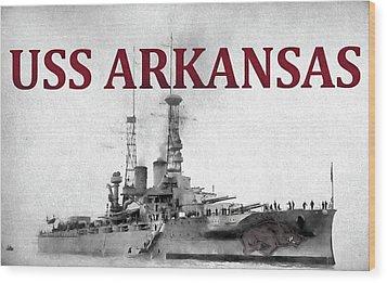 Uss Arkansas Wood Print by JC Findley