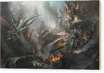 Utherworlds Ashes Wood Print by Philip Straub