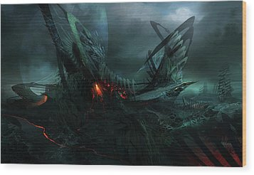 Utherworlds In Search Of Wood Print by Philip Straub