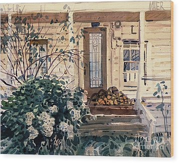 Valley Ford House Wood Print by Donald Maier