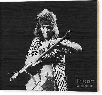 Eddie Van Halen  Wood Print by Chris Walter