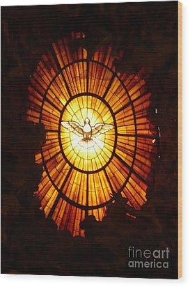 Vatican Window Wood Print by Carol Groenen