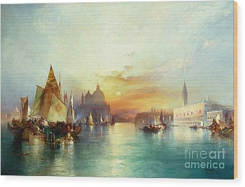 Venice Wood Print by Thomas Moran