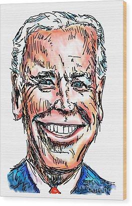Vice President Joe Biden Wood Print by Robert Yaeger