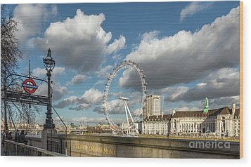 Victoria Embankment Wood Print by Adrian Evans