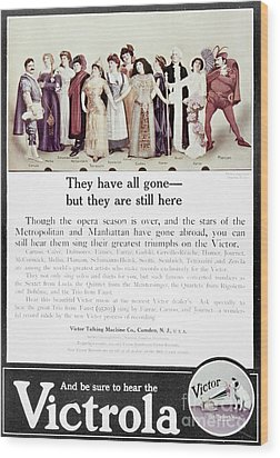 Victrola Advertisement Wood Print by Granger