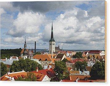 View Of St Olav's Church Wood Print by Fabrizio Troiani