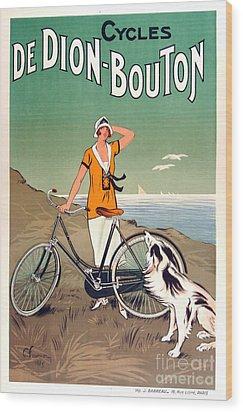 Vintage Bicycle Advertising Wood Print by Mindy Sommers