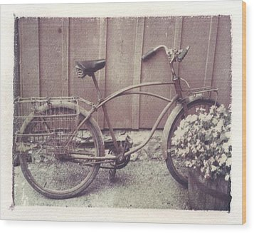 Vintage Bicycle Wood Print by Jane Linders
