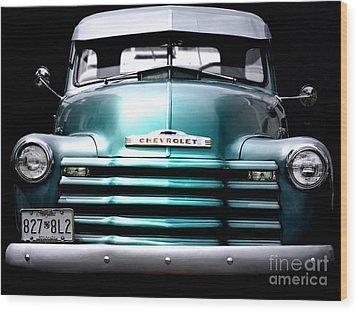 Vintage Chevy 3100 Pickup Truck Wood Print by Steven  Digman