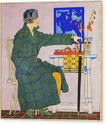 Vintage Clothing Advertisement 1910 Wood Print by Padre Art
