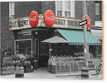 Vintage Coca Cola Signs Wood Print by Andrew Fare