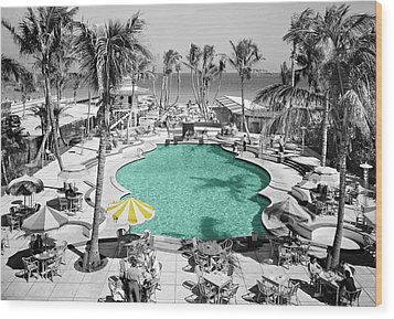 Vintage Miami Wood Print by Andrew Fare