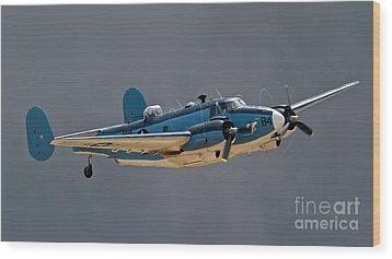 Vintage Naval Twin With Proptip Vortices 2011 Chino Planes Of Fame Air Show Wood Print by Gus McCrea