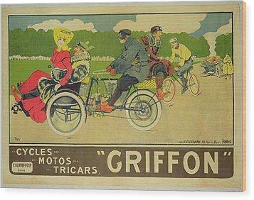 Vintage Poster Bicycle Advertisement Wood Print by Walter Thor