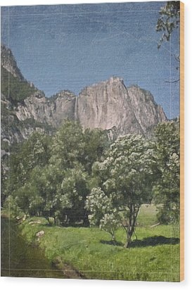 Vintage Yosemite Wood Print by Teresa Mucha