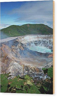 Volcan Poas Wood Print by Kryssia Campos