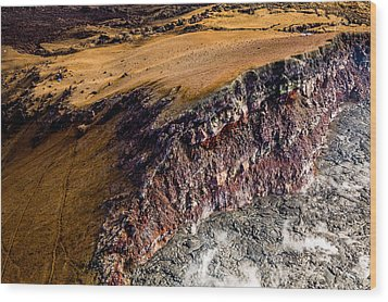 Wood Print featuring the photograph Volcanic Ridge II by M G Whittingham
