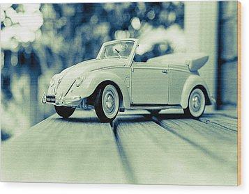 Vw Beetle Convertible Wood Print by Jon Woodhams