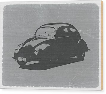 Vw Beetle Wood Print by Naxart Studio