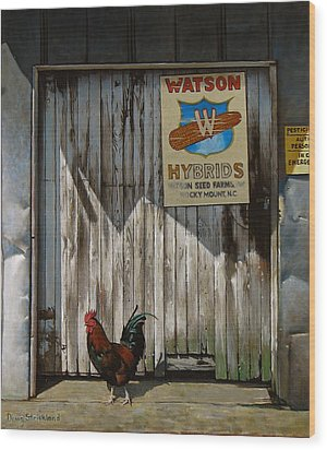Waiting For Watson Wood Print by Doug Strickland