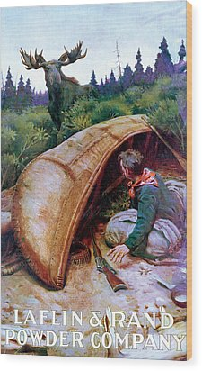 Wake Up Call Wood Print by Phillip R Goodwin