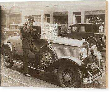 Wall Street Crash, 1929 Wood Print by Granger