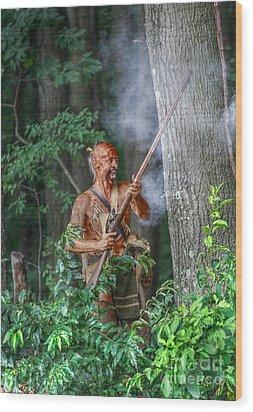 War Cry Indian Warrior Wood Print by Randy Steele