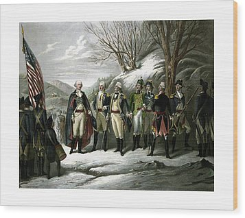 Washington And His Generals  Wood Print by War Is Hell Store