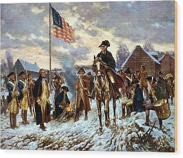 Washington At Valley Forge Wood Print by War Is Hell Store
