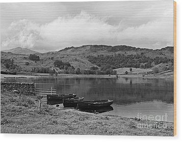 Watendlath Tarn In The Lake District Cumbria Wood Print by Louise Heusinkveld